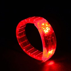 Braccialetto luminoso Light Pulse ROSSO - LED