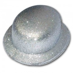 Bombetta glitter - ARGENTO