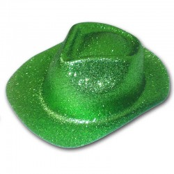 Cappello Cowboy glitter - VERDE