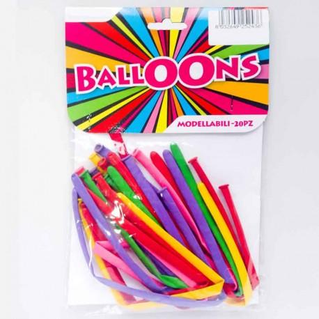 Palloncini modellabili 20 pz - colorazione mista