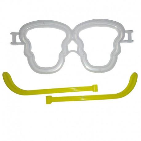 25 montature occhiali a teschio accese