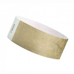 Braccialetti identificativi- ORO METAL - TYVEK 25mm