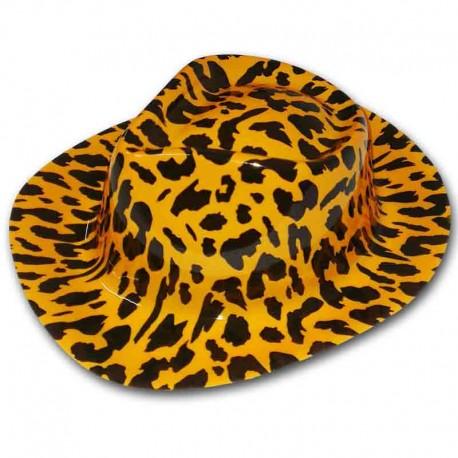 Cappello Cowboy arancio leopardato