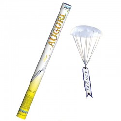 "Sparacoriandoli con Paracadute ""AUGURI"" - 80 cm"