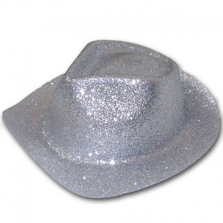 Cappello cowboy glitter - ARGENTO