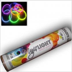 Braccialetti luminosi ECONOMICI- 8 COLORI - tubo da 100 pz
